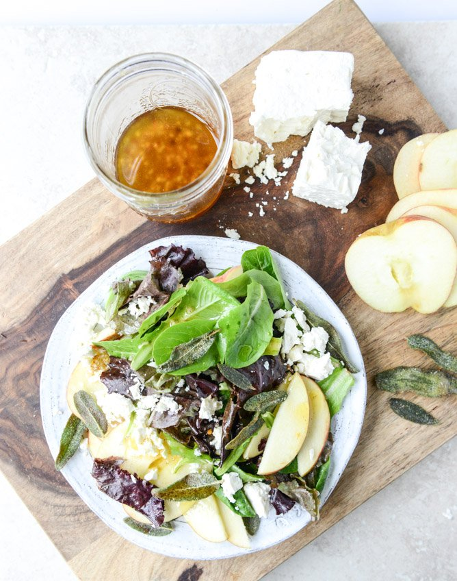 Honeycrisp Salad with Crispy Sage and Maple Vinaigrette