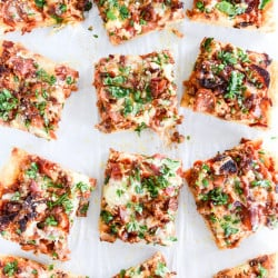 meat lovers pizza I howsweeteats.com-3
