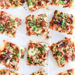 meat lovers pizza I howsweeteats.com-3