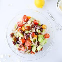 greek salad I howsweeteats.com-5