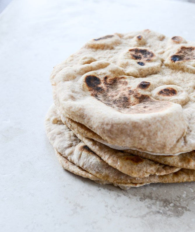 how to make whole wheat pita I howsweeteats.com