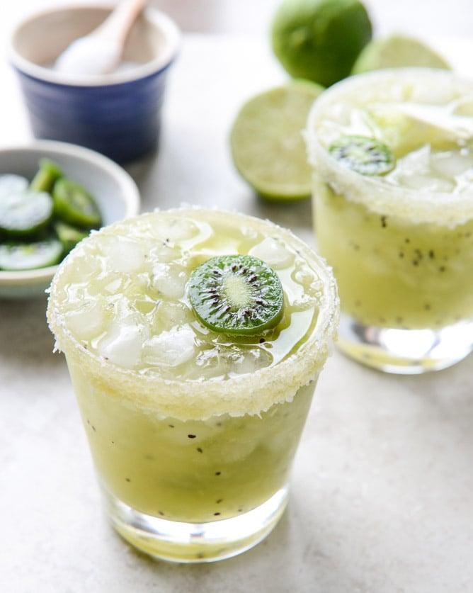 kiwi margaritas I howsweeteats.com