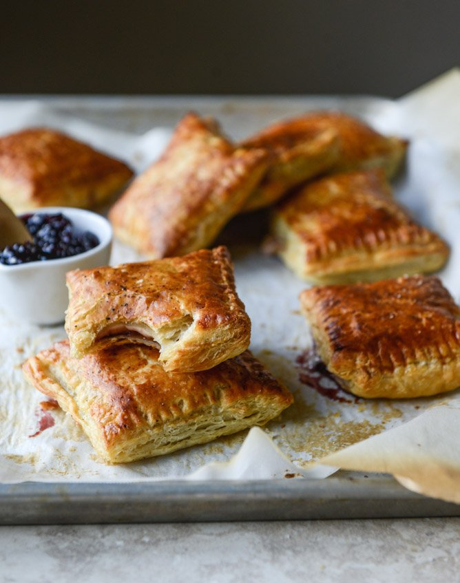 smoked cheddar and cherry jam pastry pop tarts I howsweeteats.com