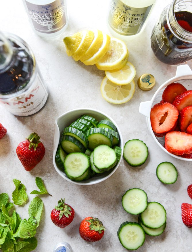 strawberry pimm's cups I howsweeteats.com