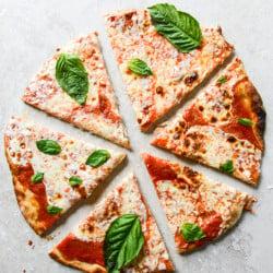 thin crust pizza I howsweeteats.com-7
