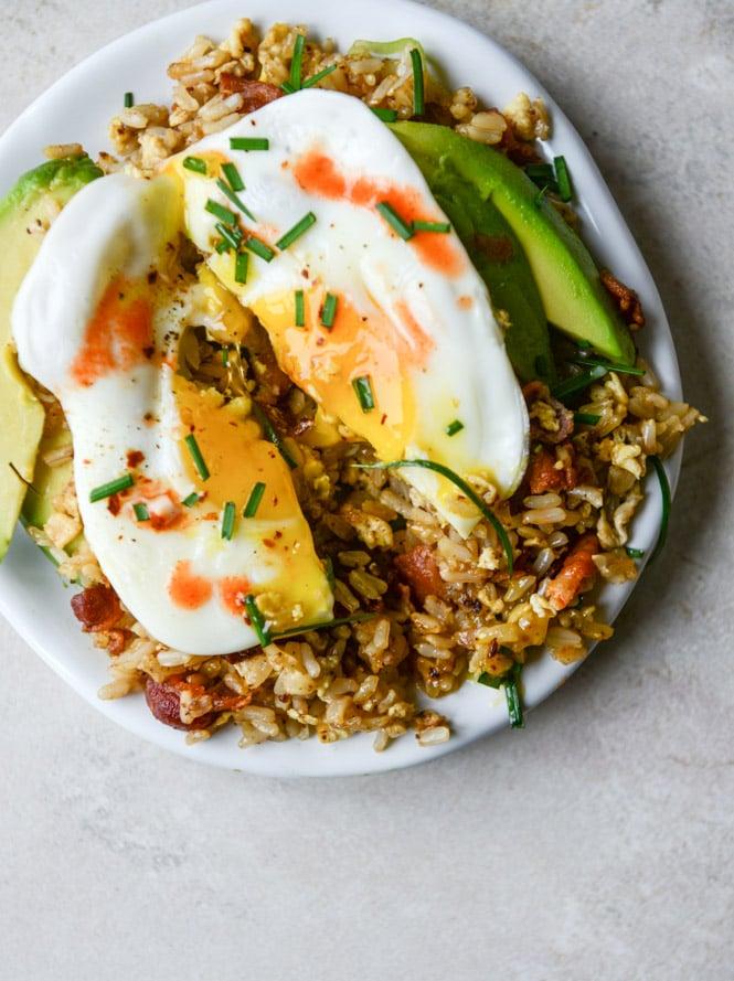 Breakfast Fried Rice I Howsweeteats
