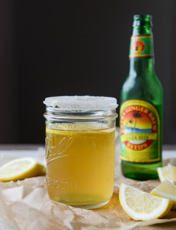 ginger beer shandy I howsweeteats.com