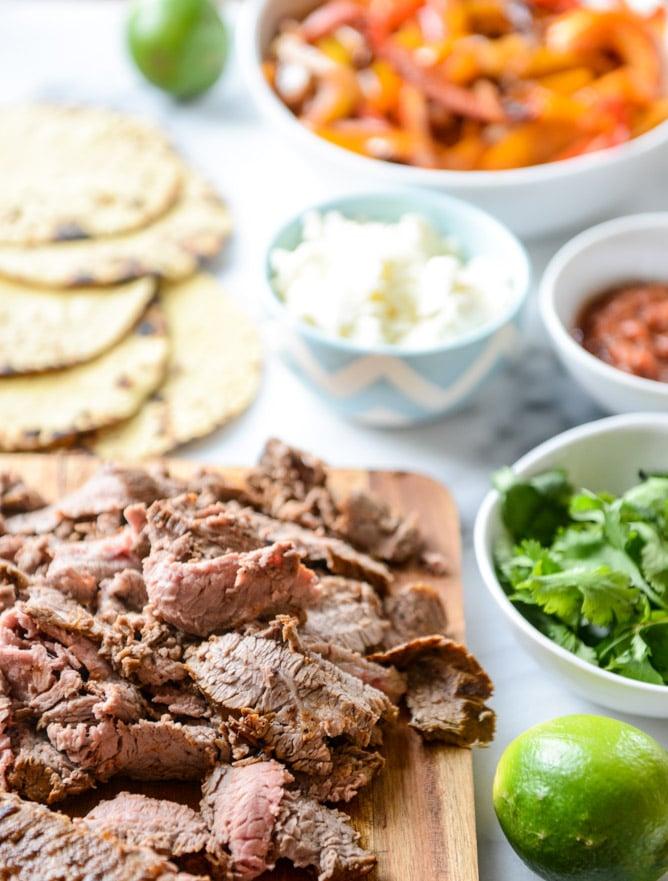 our favorite steak fajitas, three ways I howsweeteats.com