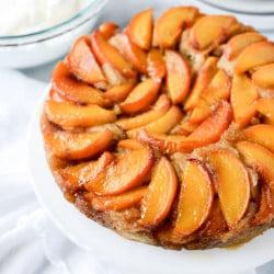 peach upside down cake I howsweeteats,com-7