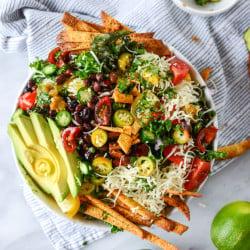 taco kale salad I howsweeteats.com-4