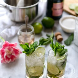 champagne mojitos I howsweeteats.com-8