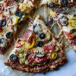 supreme cauliflower crust pizza I howsweeteats.com-13