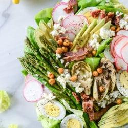 spring cobb salad I howsweeteats.com-8