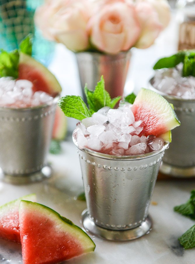 Fresh Watermelon Mint Juleps | 21 Easy Brunch Cocktails For Your Weekend Party With Your Girlfriends