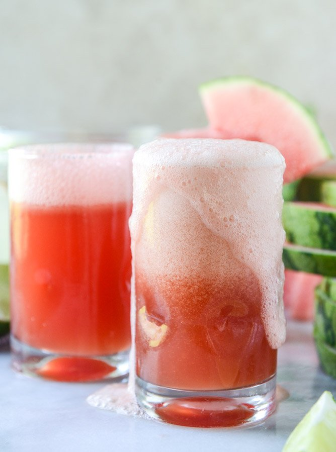 how to make a watermelon shandy I howsweeteats.com