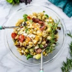 bacon corn potato salad I howsweeteats.com-5