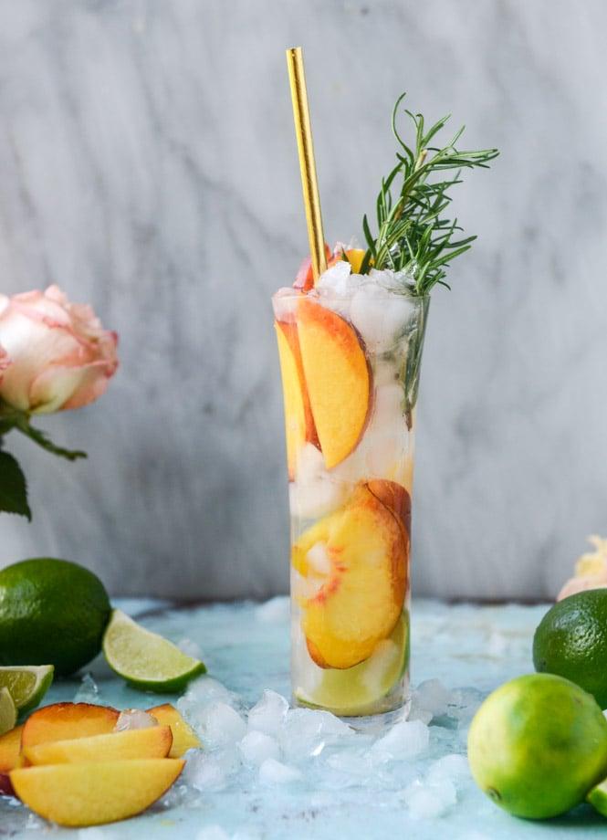Fresh Peach Gin And Tonic How Sweet Eats