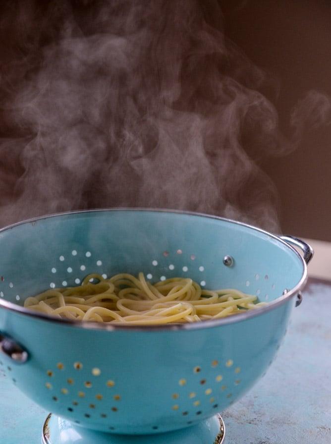 pesto pasta with burrata I howsweeteats.com