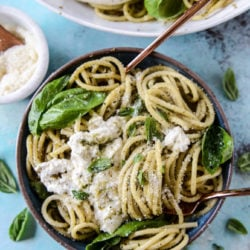 burrata pesto pasta I howsweeteats.com-8