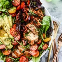 chicken bacon avocado salad I howsweeteats.com-10