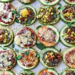 mini zucchini pizzas I howsweeteats.com-1-3