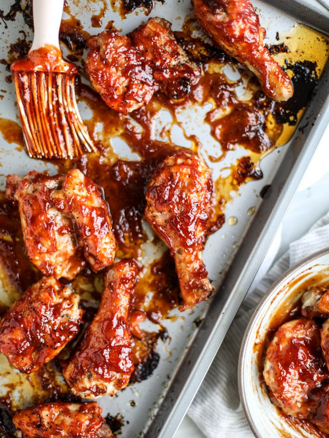 apple cider BBQ chicken I howsweeteats.com