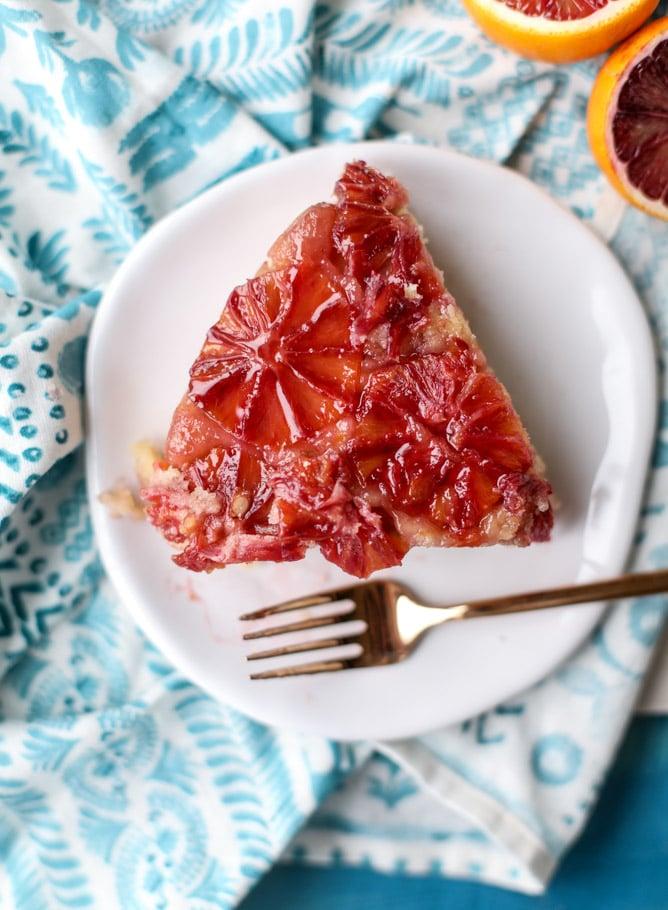 blood orange upside down cake I howsweeteats.com