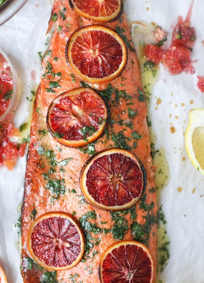 winter citrus butter salmon I howsweeteats.com