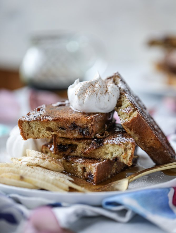 irish soda bread french toast I howsweeteats.com