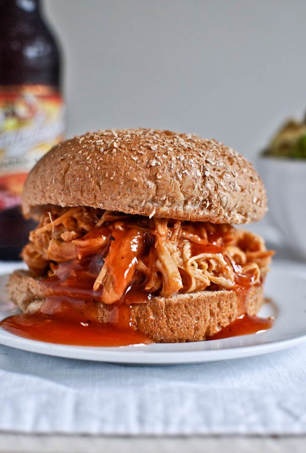 Slow Cooker BBQ Beer Chicken and 10 favorite recipes for Memorial Day Weekend I howsweeteats.com