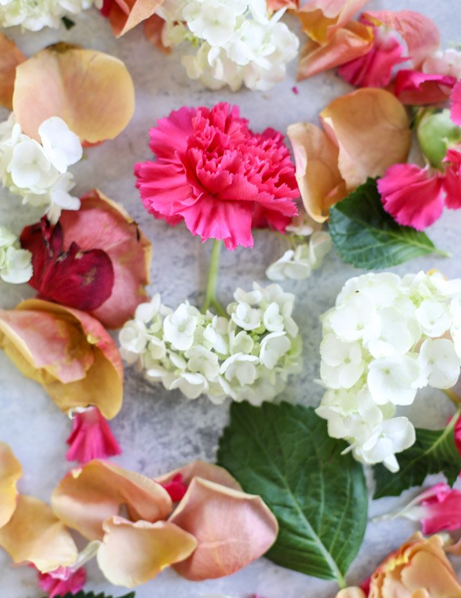 how to make a floral ice bucket - VIDEO! I howsweeteats.com
