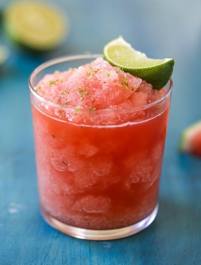 frozen watermelon lime agua fresca I howsweeteats.com