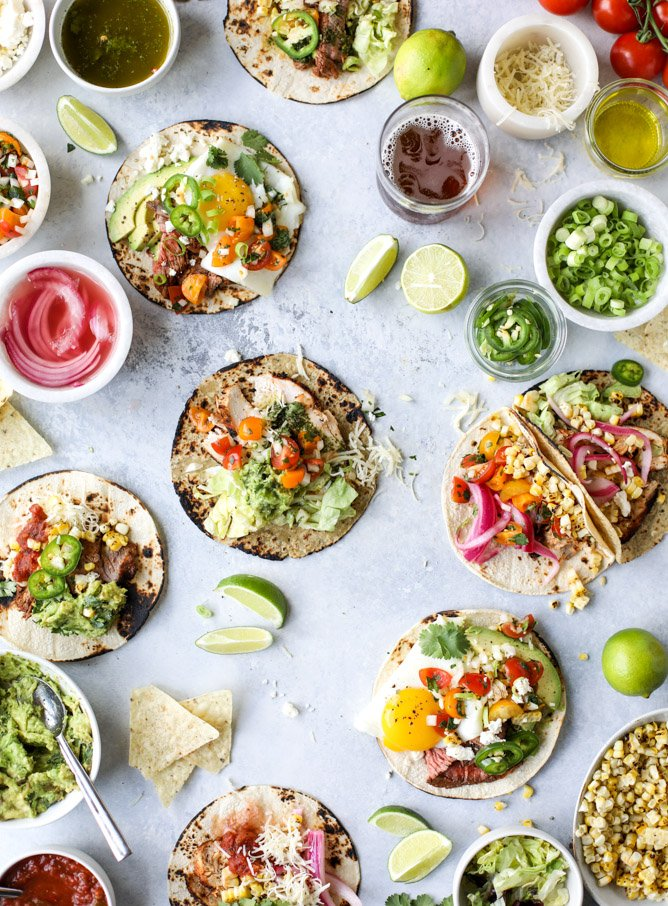 how to set up a taco bar for father's day I howsweeteats.com