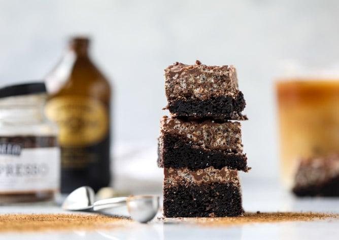 nutella coffee crunch brownies I howsweeteats.com