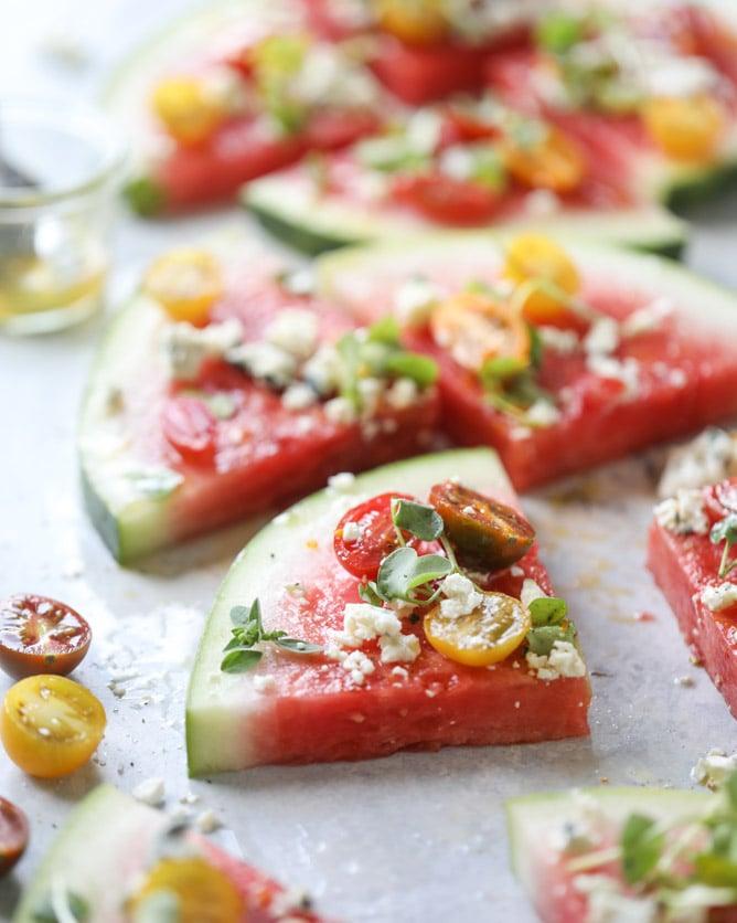 watermelon salad wedges I howsweeteats.com