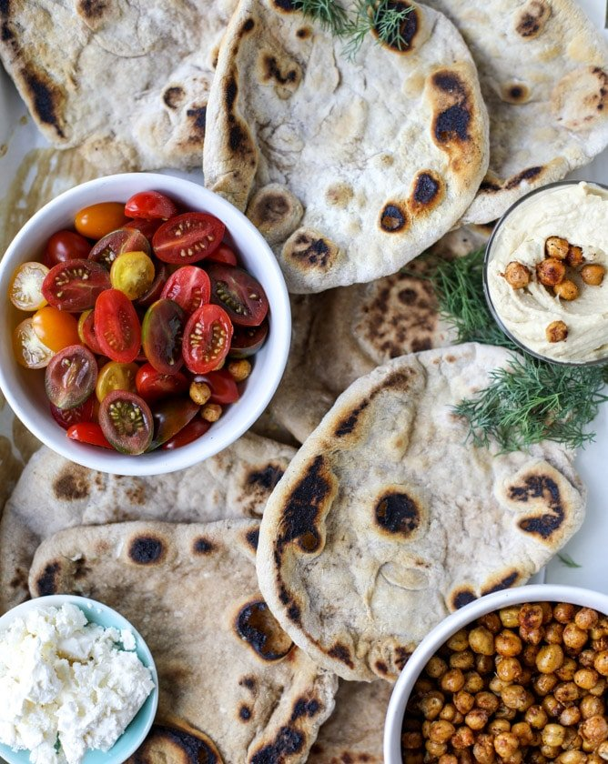 crunchy roasted chickpea pitas I howsweeteats.com #chickpeas #vegetarian