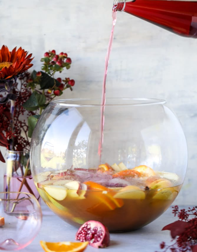 thanksgiving party punch I howsweeteats.com