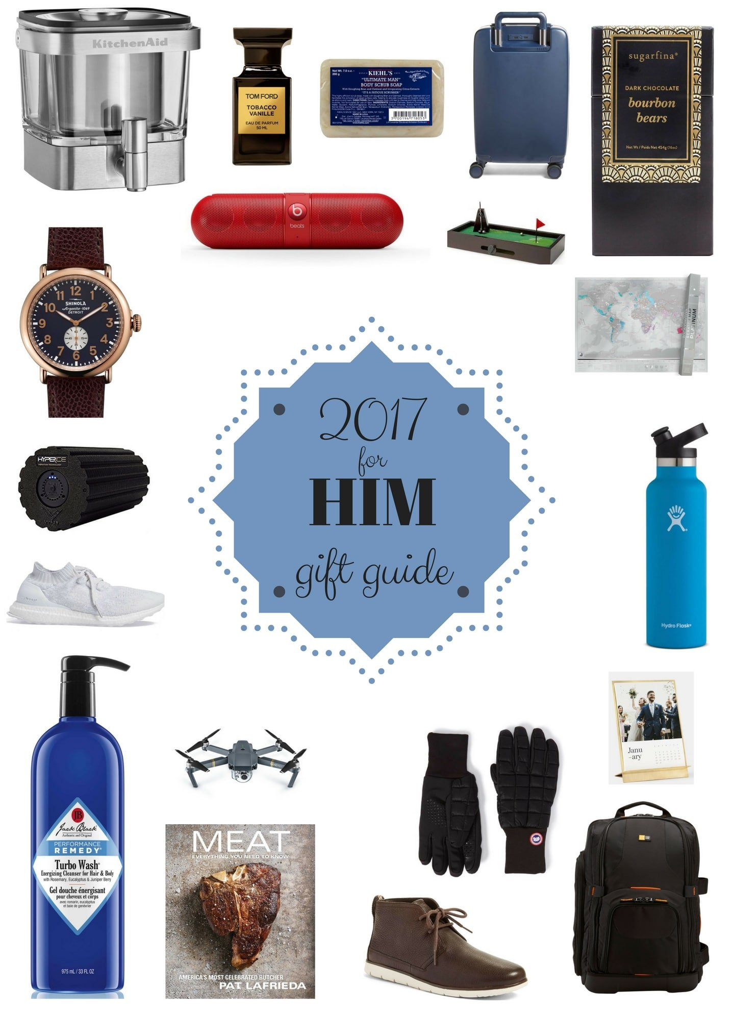 2017 Holiday Gift Guide For Him I Howsweeteats Giftguide Christmas