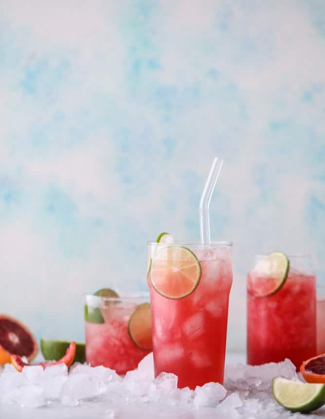 blood orange coolers I howsweeteats.com #bloodorange #mocktails #coconutwater #drinks