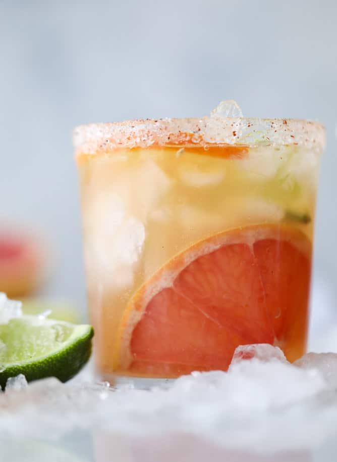 kombucha mocktail - triple citrus kombucha fizz I howsweeteats.com #mocktail #kombucha #citrus #grapefruit