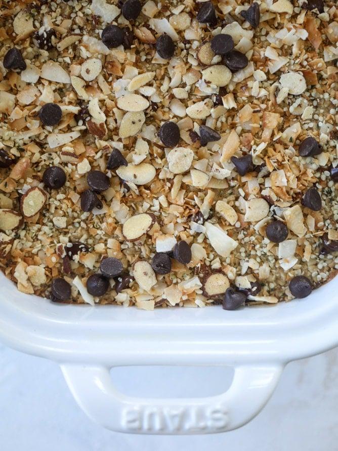 best ever baked oatmeal I howsweeteats.com #baked #oatmeal #breakfast #brunch