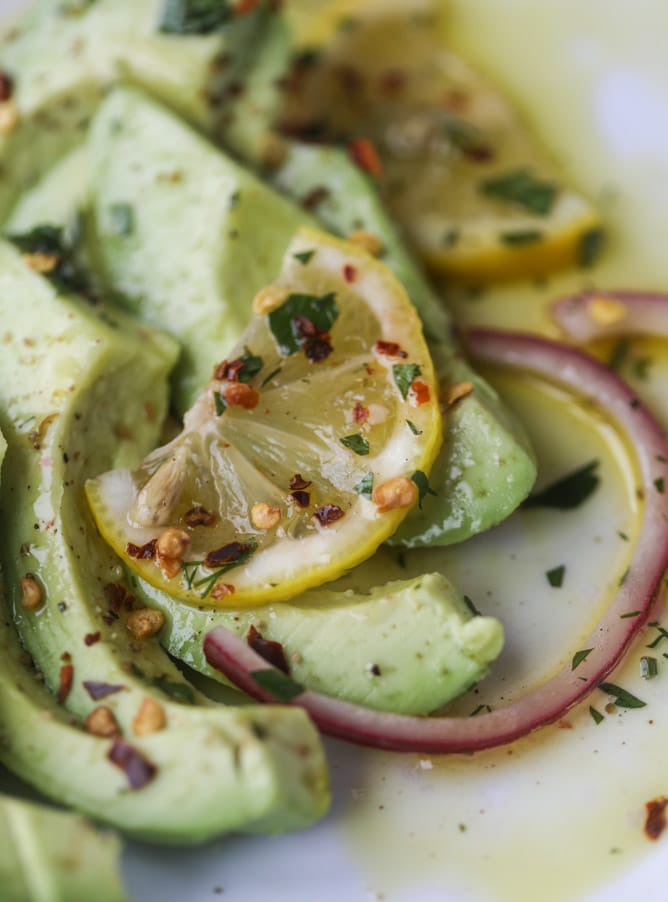 pickled shrimp avocado salad I howsweeteats.com #pickledshrimp #seafood #avocado #salad #kentuckyderby