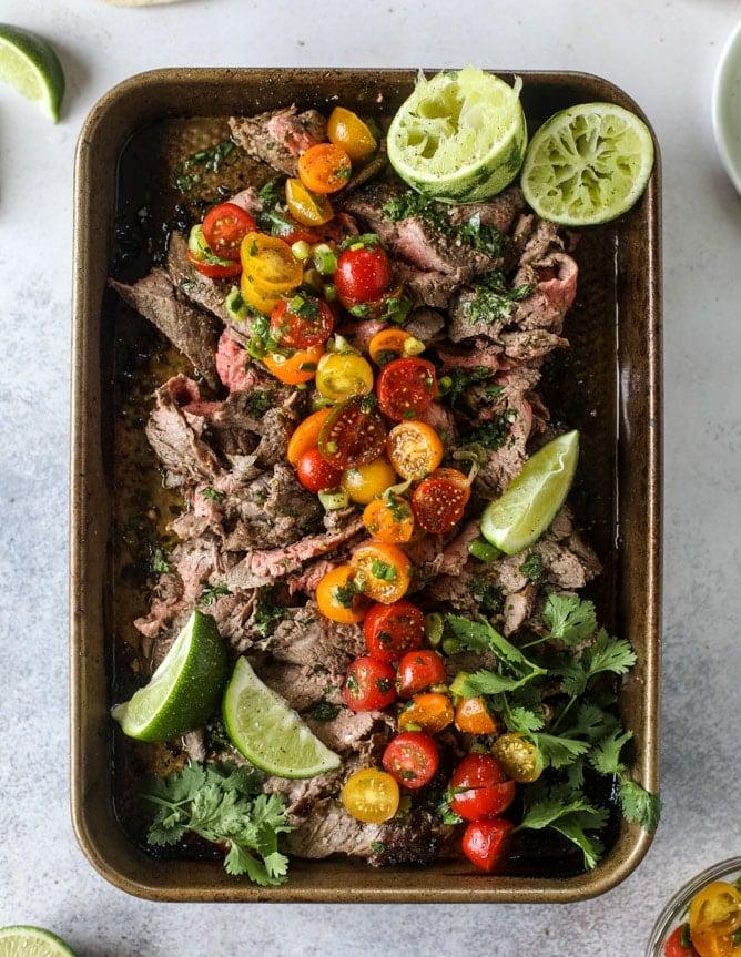 cilantro lime flank steak I howsweeteats.com #flank #steak #recipe #cilantro #lime