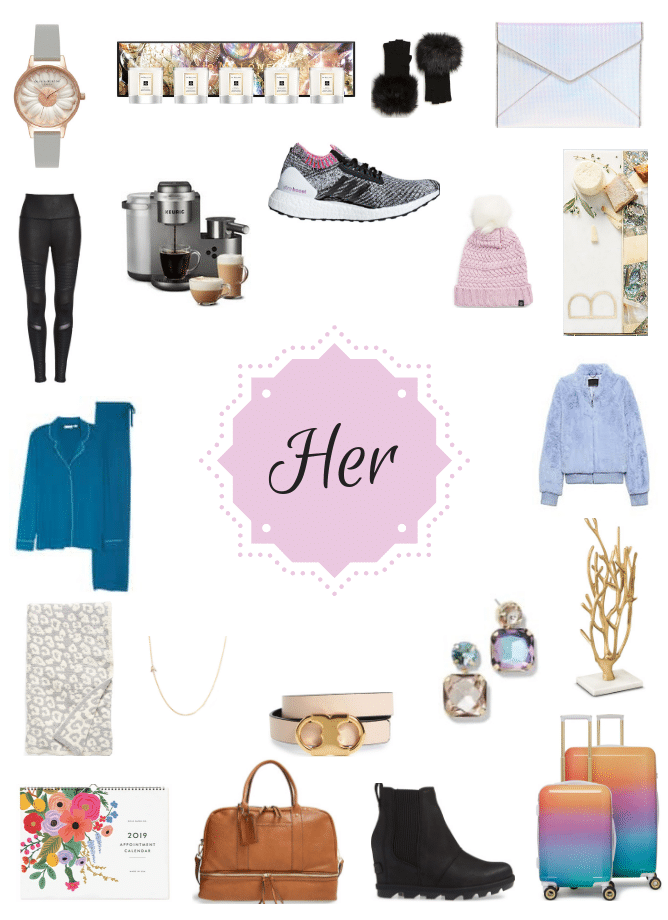My 2018 women's holiday gift guide is full of so many items that I love! Things I use every single day, things I've gifted in the past and items that are on my own wish list! I howsweeteats.com #womens #giftguide