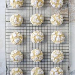 Lemon Crinkle Cookies Lemon Crinkle Cookie Recipe