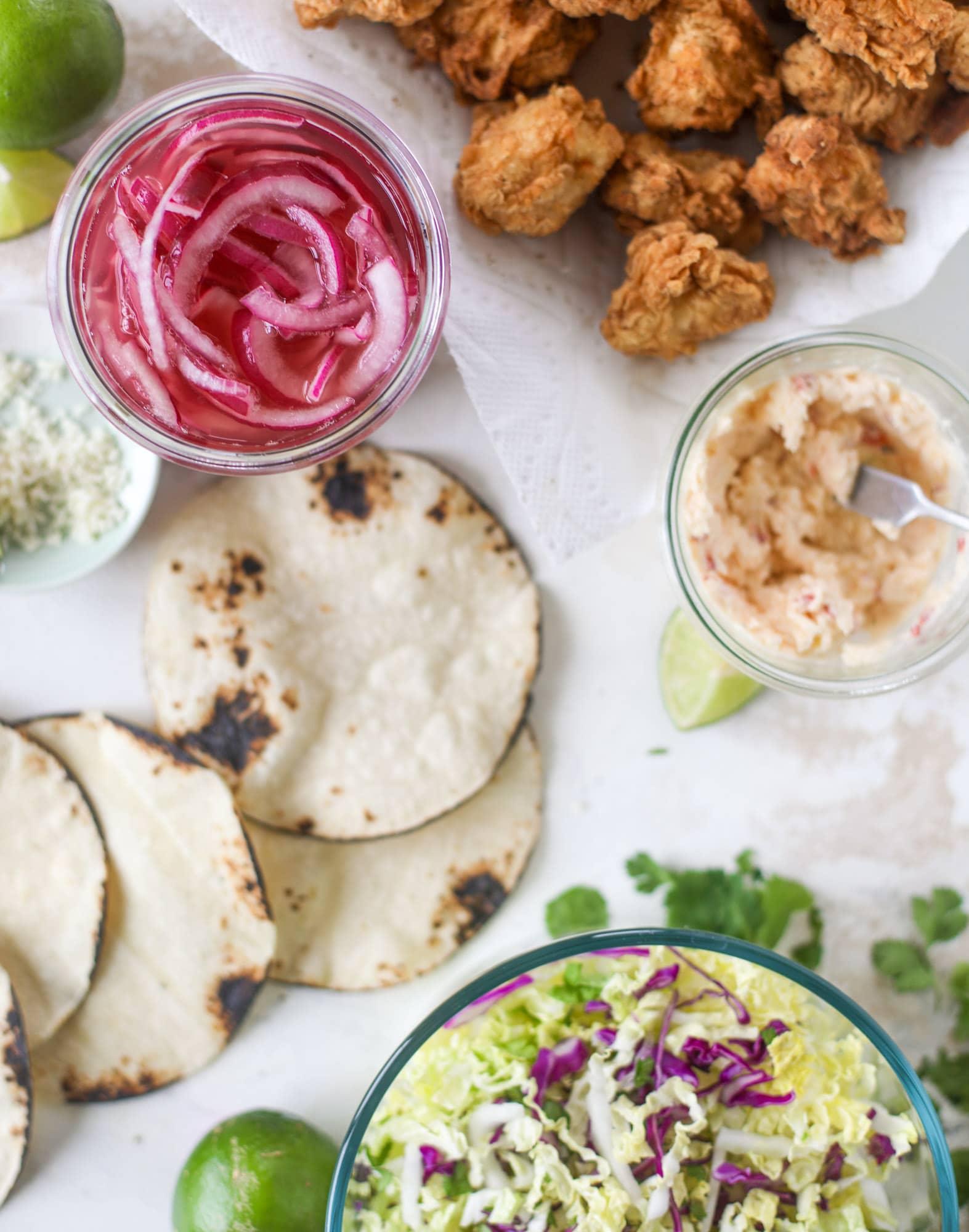 crispy chicken taco ingredients
