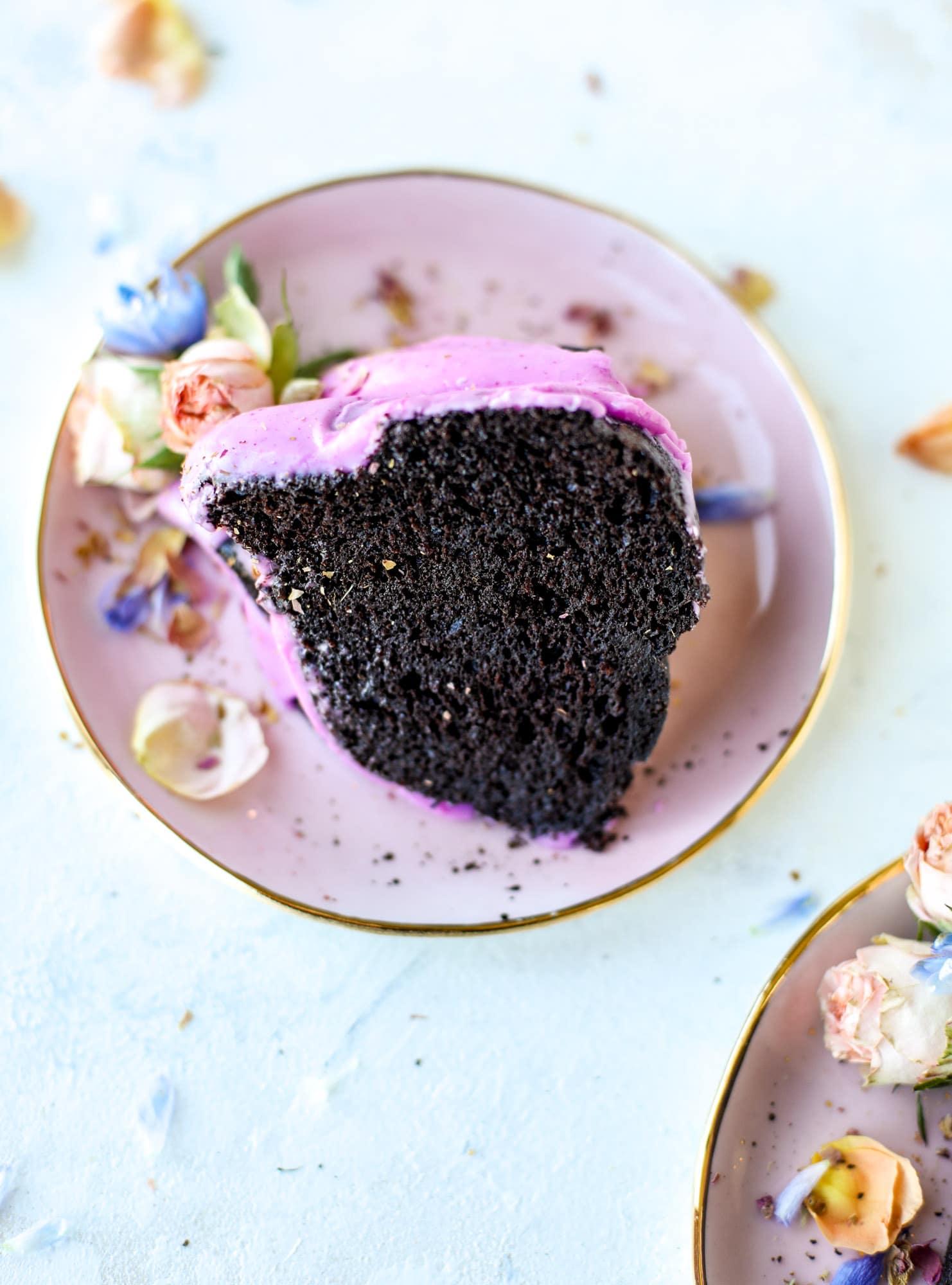 chocolate dragon fruit cake