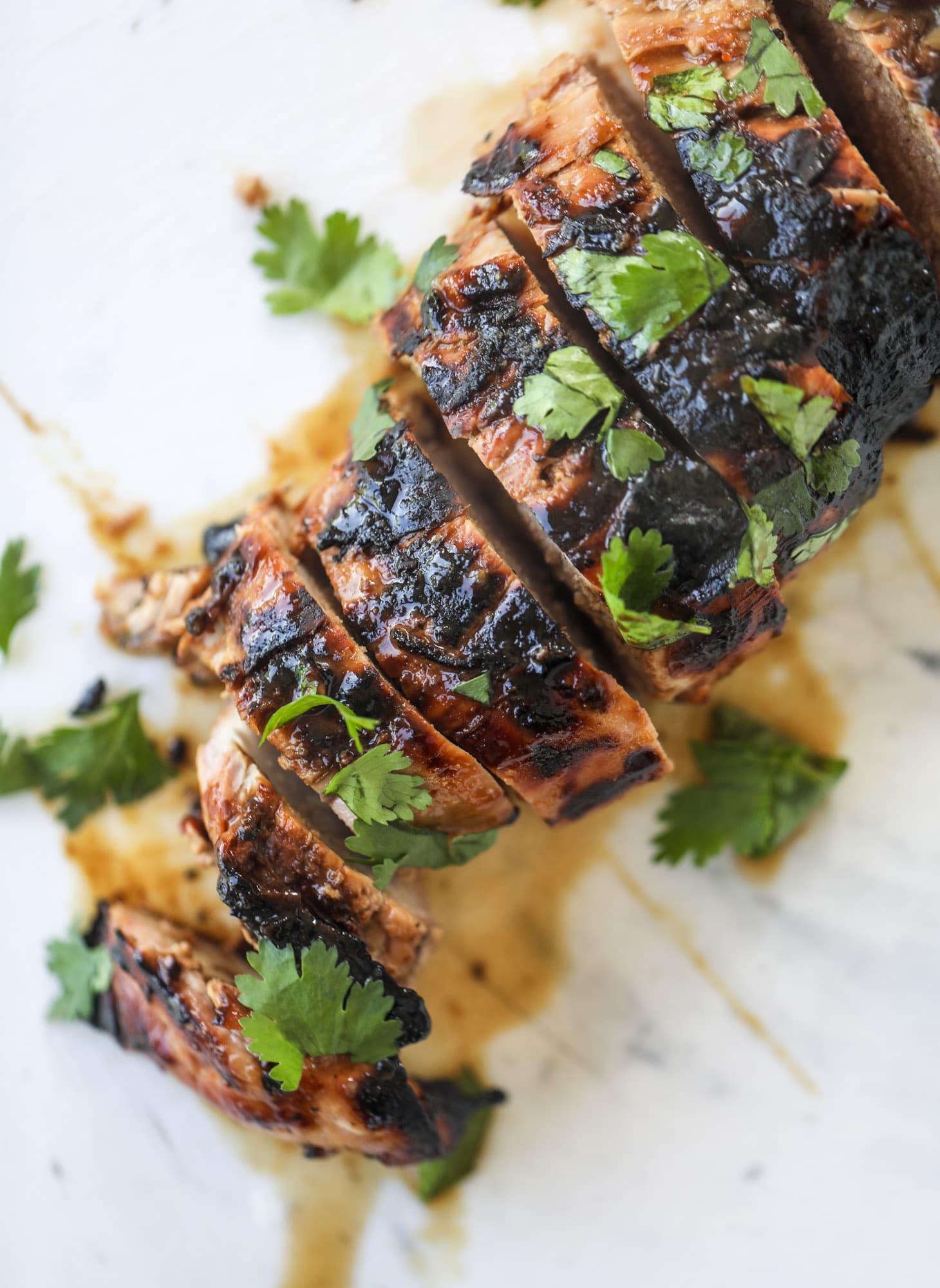 sliced grilled pork tenderloin