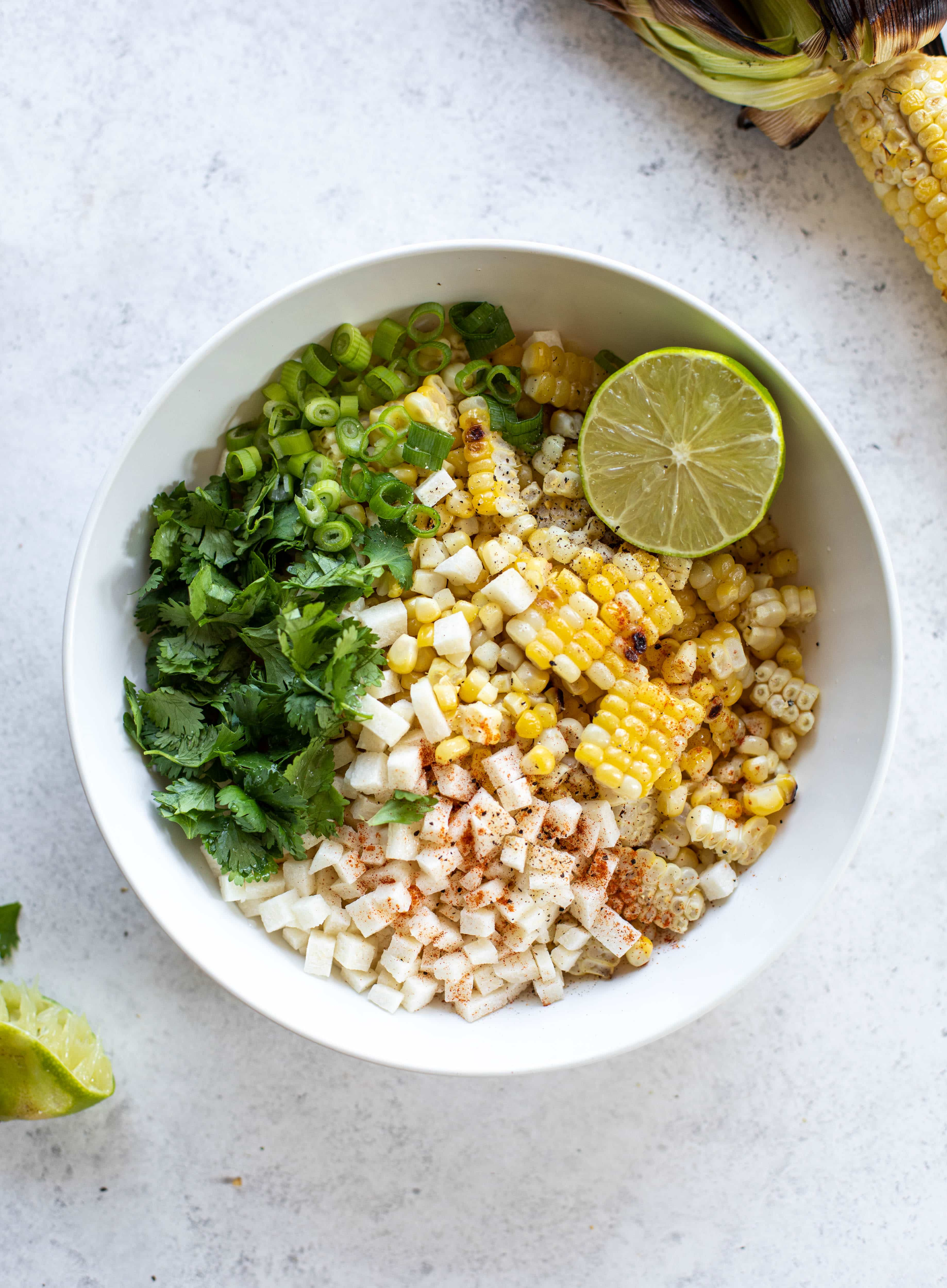 street corn and jicama salad