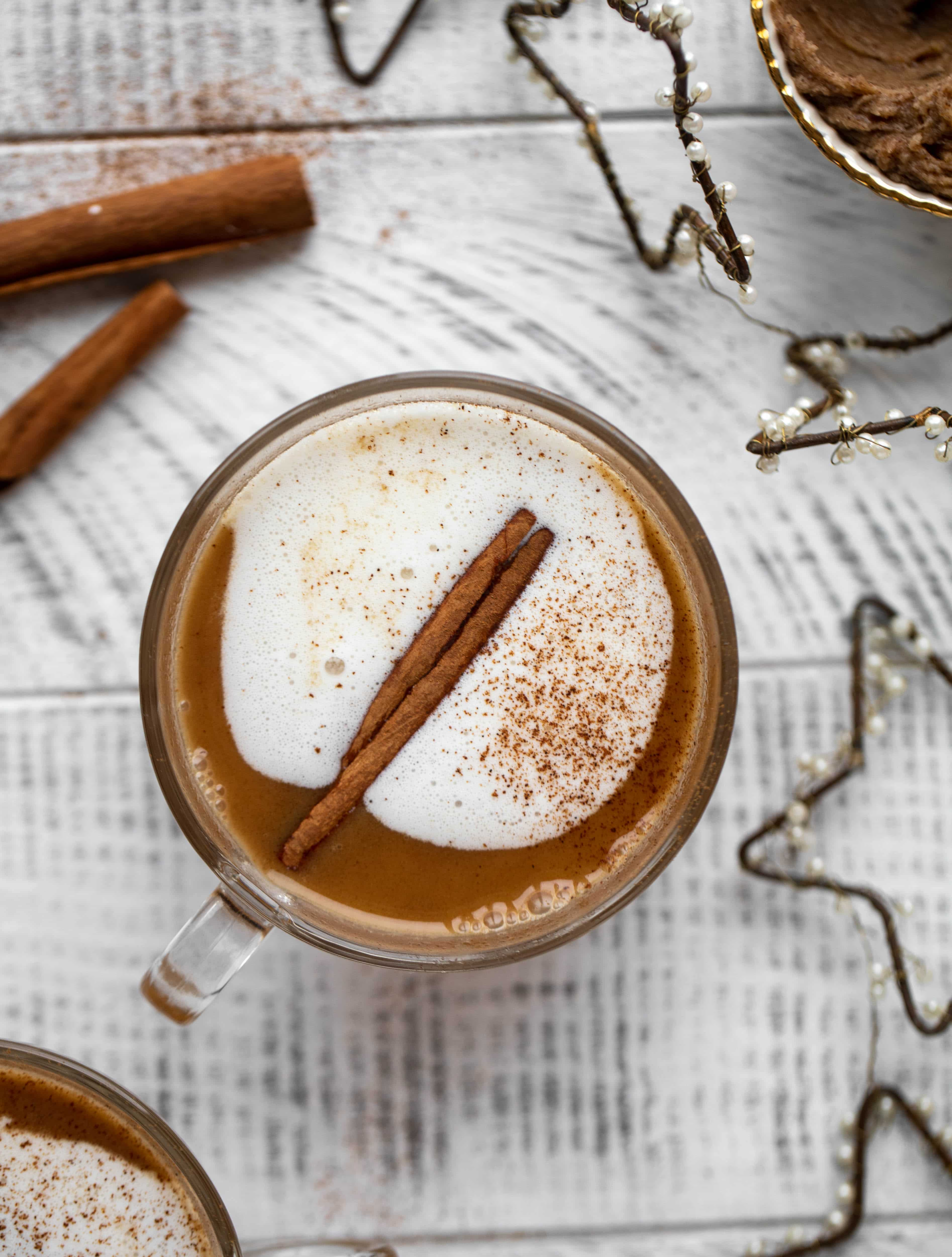 Hot buttered bourbon is a warming, spiced cozy drink that is perfect for chilly nights! Save batter in the fridge so you can have it whenever you'd like!